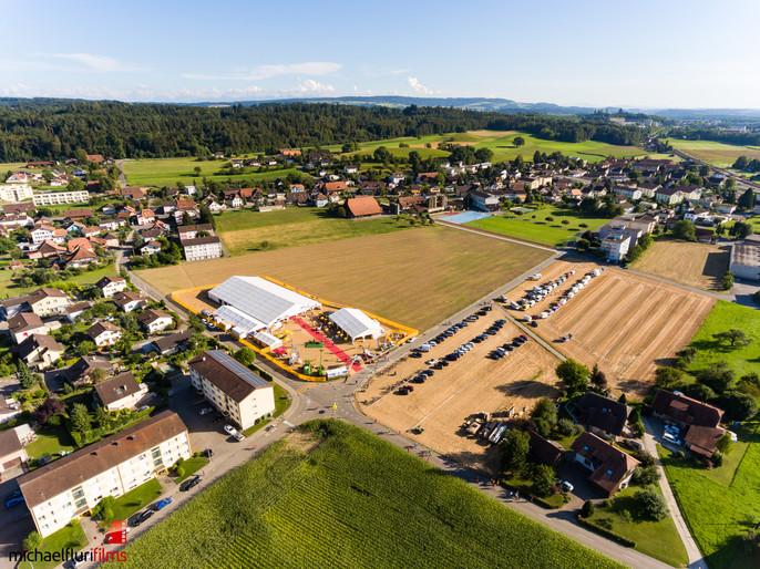 Luftaufnahmen: Hornusserfeste Busswil 2016