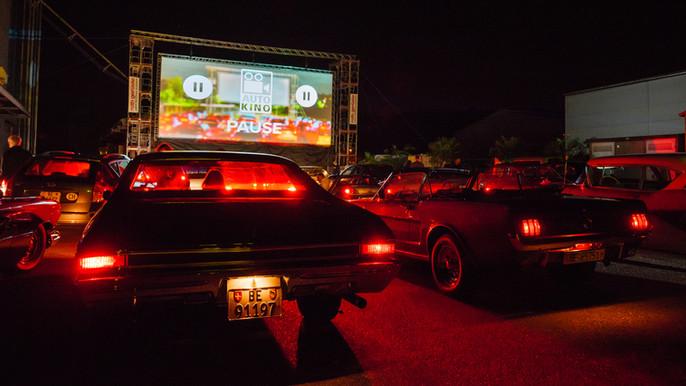 Autokino Worb: Nachtstimmung