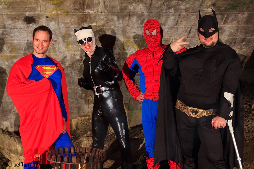 Superhelden während den Dreharbeiten (Part II)