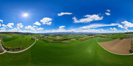 360°-Panorama vom Frienisberg