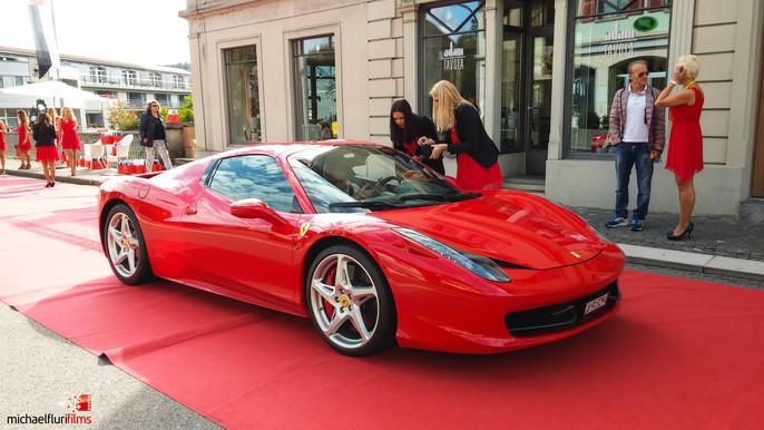 Ferrari Treffen Aarberg 2014: Dreharbeiten
