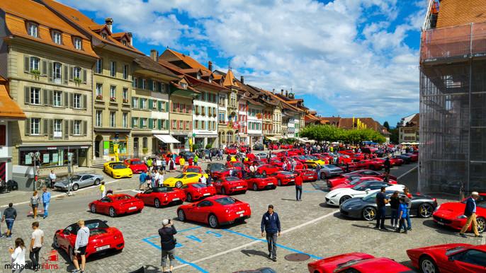 Dreharbeiten: Ferrari Treffen Aarberg 2016