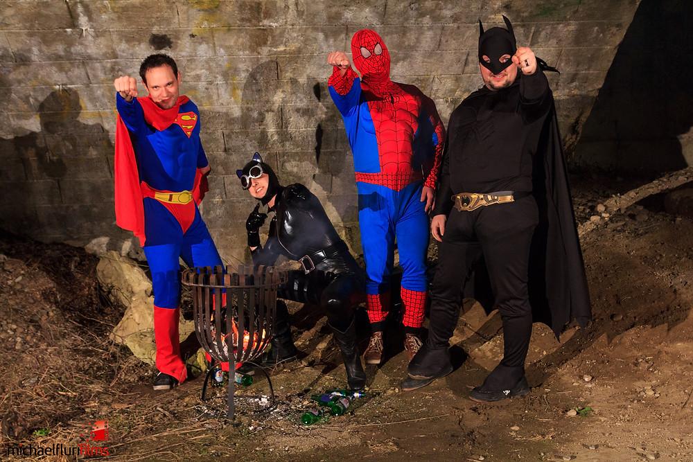 Superhelden während den Dreharbeiten (Part I)