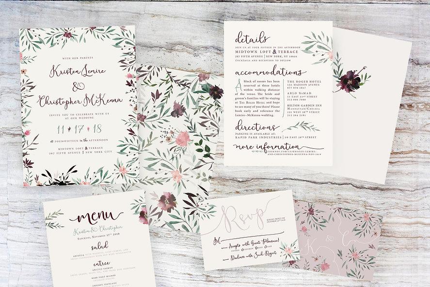 Wedding Invitation Full Set