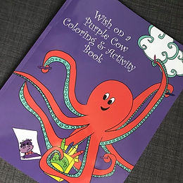 Wish on a Purple Cow Coloring & Activity Book