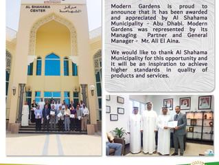 Modern Gardens was appreciated by Al Shahama Municipality-Abu Dhabi