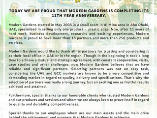 Modern Gardens is celebrating its 11th Year Anniversary!