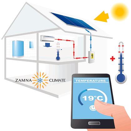 Zamna Climate DC OFF GRID 12,000btu Minisplit AC/Heater