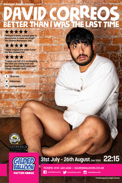 83 David Correos Edinburgh Fringe 2019