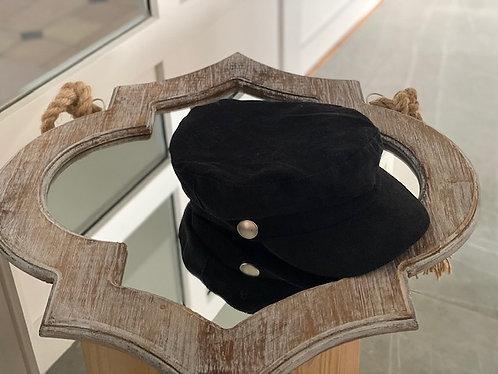 Casquette velours noir