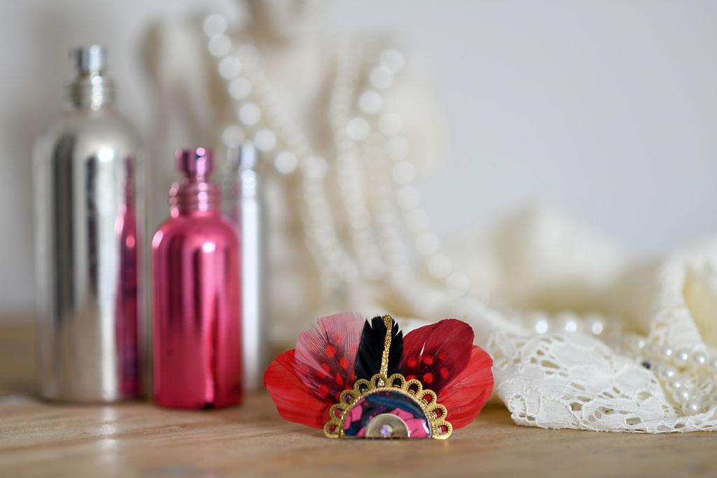 Bijoux Broche Gilda - Rouge - Panames & Co - Modalova