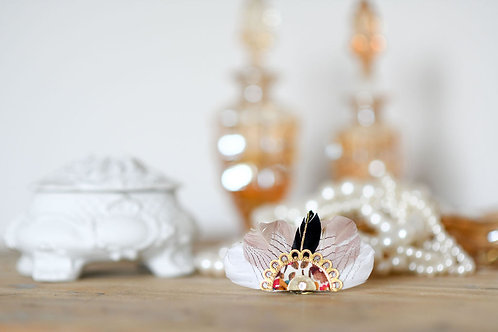 Bijoux Broche Gilda - Poudrée