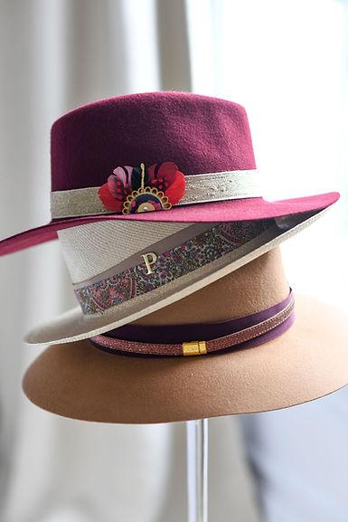 panamas chapeau feutre d'Italie personnalisé