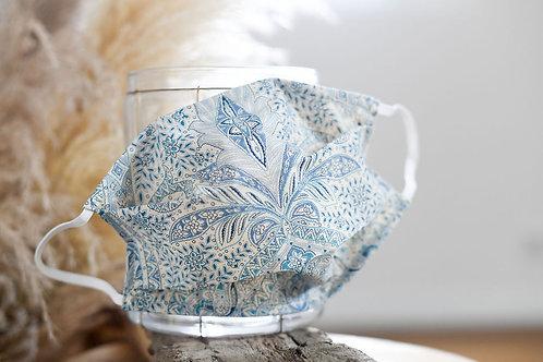 Le masque de protection - Batik bleu