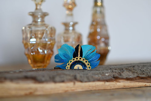 Bijoux Broche Gilda - Bleu