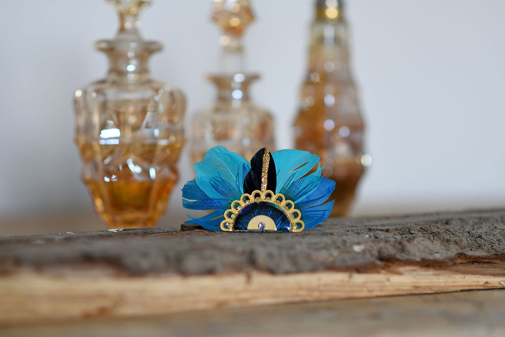 Bijoux Broche Gilda - Bleu - Panames & Co - Modalova