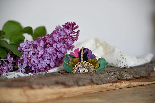 Bijoux Broche Gilda - Vert Paon
