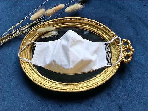 Le masque de protection - uni blanc