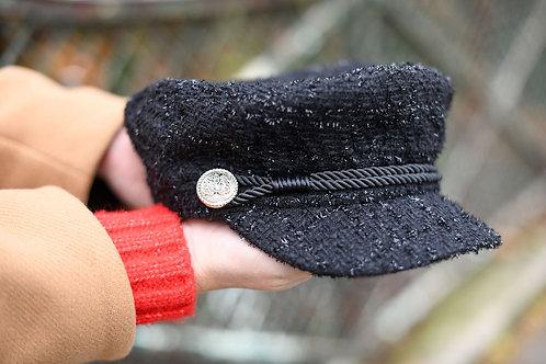 Casquette gavroche noire