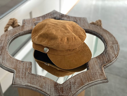 Casquette velours curry