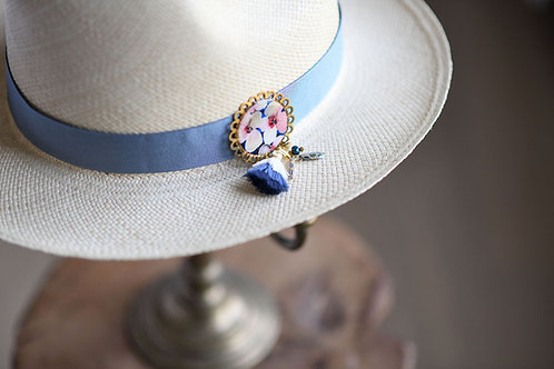 Bijoux Broche Rosi - bleu