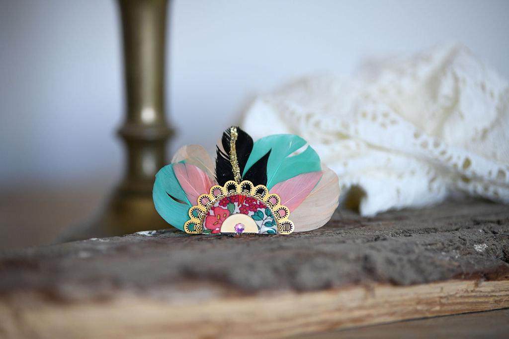 Bijoux Broche Gilda - Turquoise - Panames & Co - Modalova