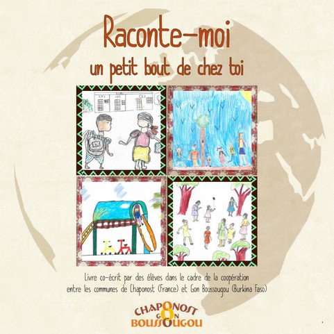 Le livre commun aux écoles de Gon-Boussougou et Chaponost va sortir.