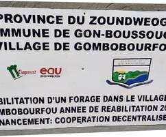 2 forages réhabilités à Gon-Boussougou