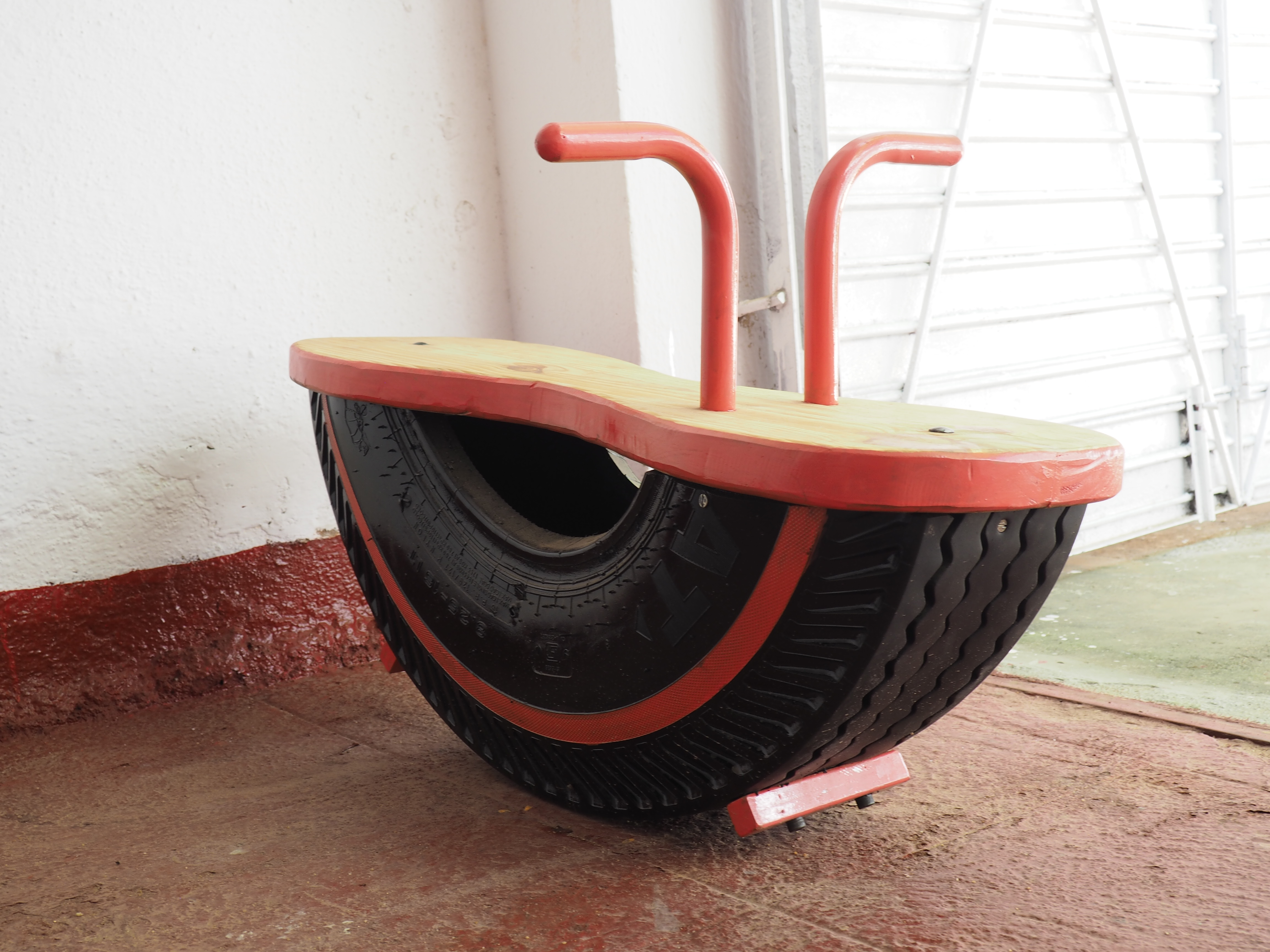 Rocking Toy - repurposed tyre