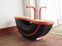 Rocking Toy - repurposed tyre