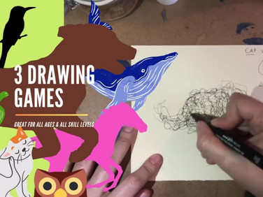 3 Drawing Games for Everyone!