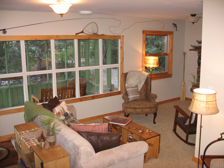 Enjoy sounds of river in living room