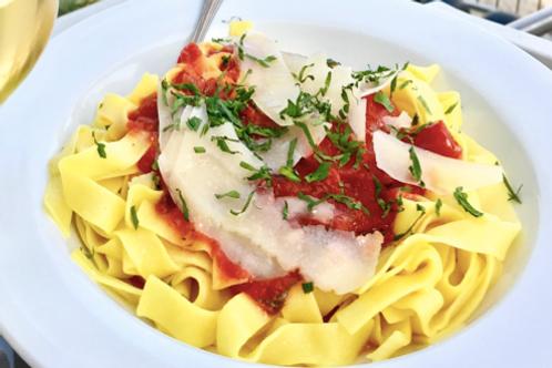 Pasta Bolognese or Tomato Sauce & Basil