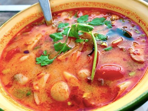 Tom Yum Pak/ Thai vegetables soup
