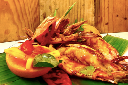 Kung Yang/ Grilled king prawns