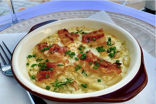 Macaroni Rigata a la carbonara et Pecorino al Tortufo