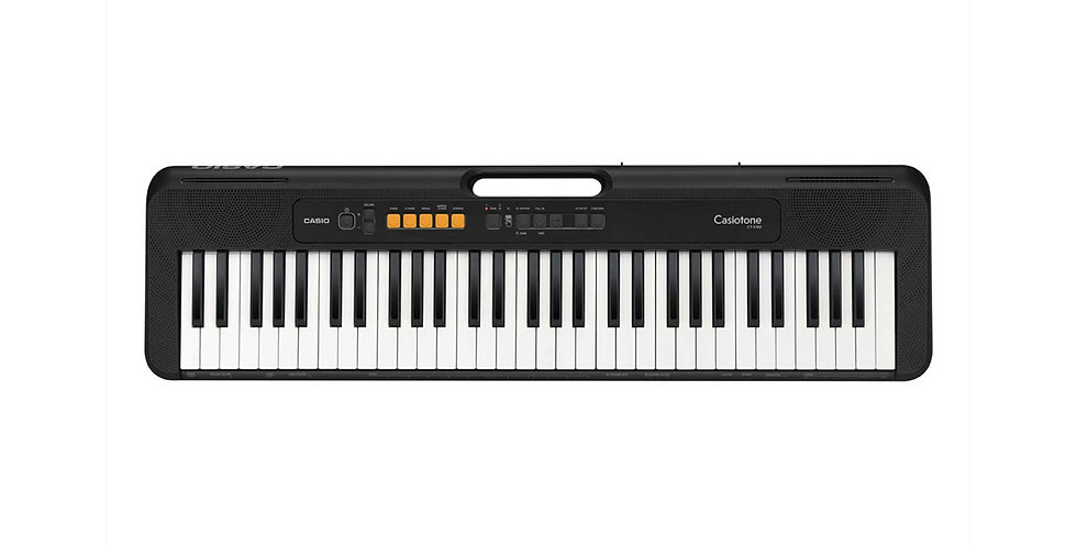 CASIO CT-S100 CASIOTONE 61 Key Portable Keyboard, BLACK