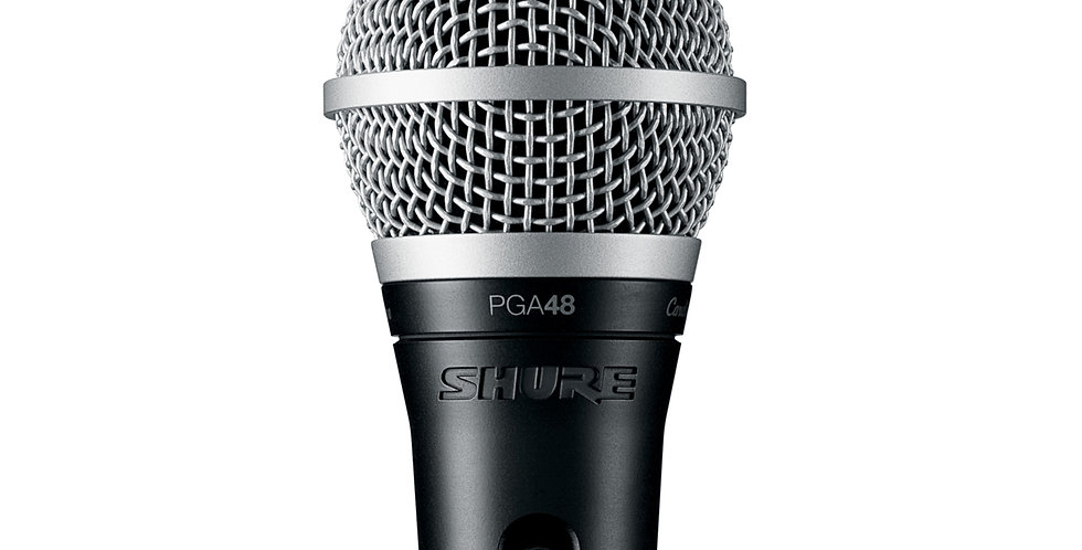 SHURE PGA48LC CARDIOID DYNAMIC VOCAL MICROPHONE (Without cable)