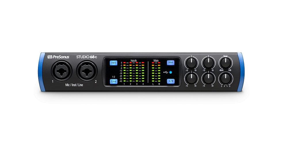 PRESONUS Studio 68c: The versatile, ultra-high-def USB-C™ compatible audio inter