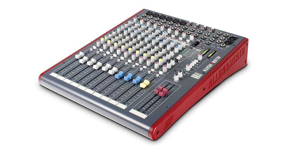 Allen and Heath ZED-12FX Multipurpose Mixer with FX for Live Sound and Recording