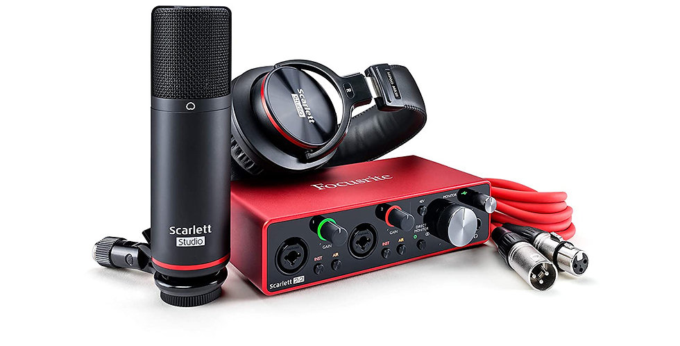 FOCUSRITE SCARLETT 2i2 STUDIO (3rd Gen) Audio Interface