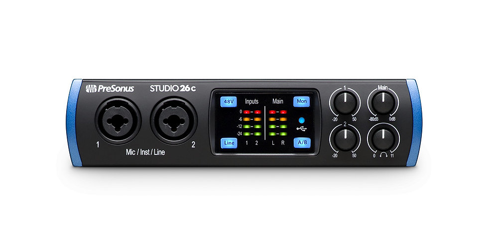 PRESONUS Studio 26c: The portable ultra-high-def USB-C compatible audio interfa