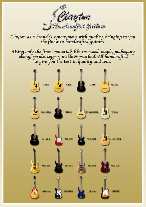 Clayton releases New Models for Acoustic Guitars