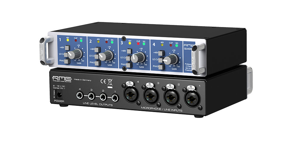 RME QuadMic II 4-Channel portable Mic Preamp