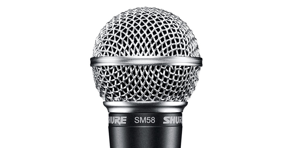 SHURE SM58-LC CARDIOD DYNAMIC VOCAL MICROPHONE (Without cable)