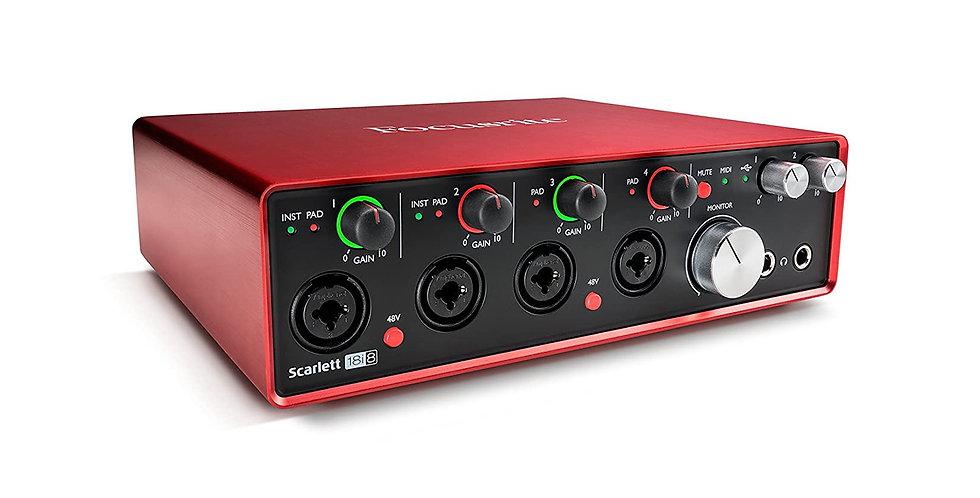Focusrite Scarlett 18i8 (3rd Gen) Audio Interface