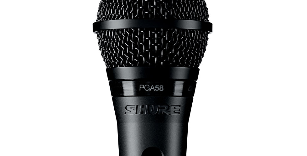 SHURE PGA58LC CARDIOD DYNAMIC MICROPHONE (Without cable)