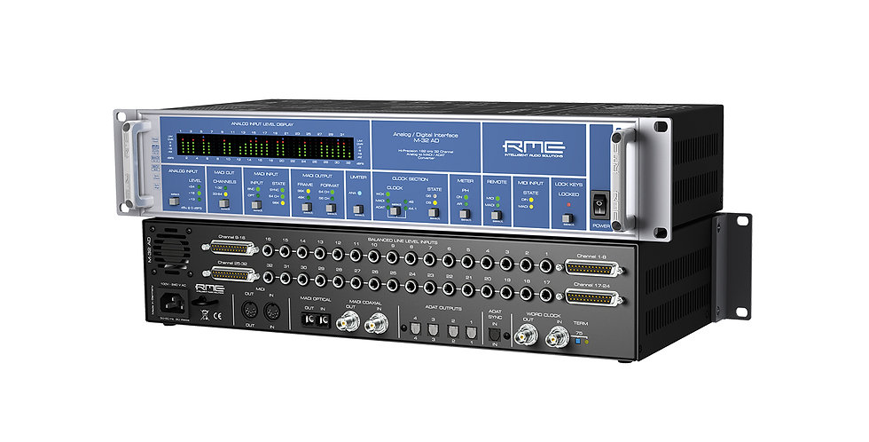 RME M-32 AD High-end 32- Channel Analog to MADI/ADAT Converter