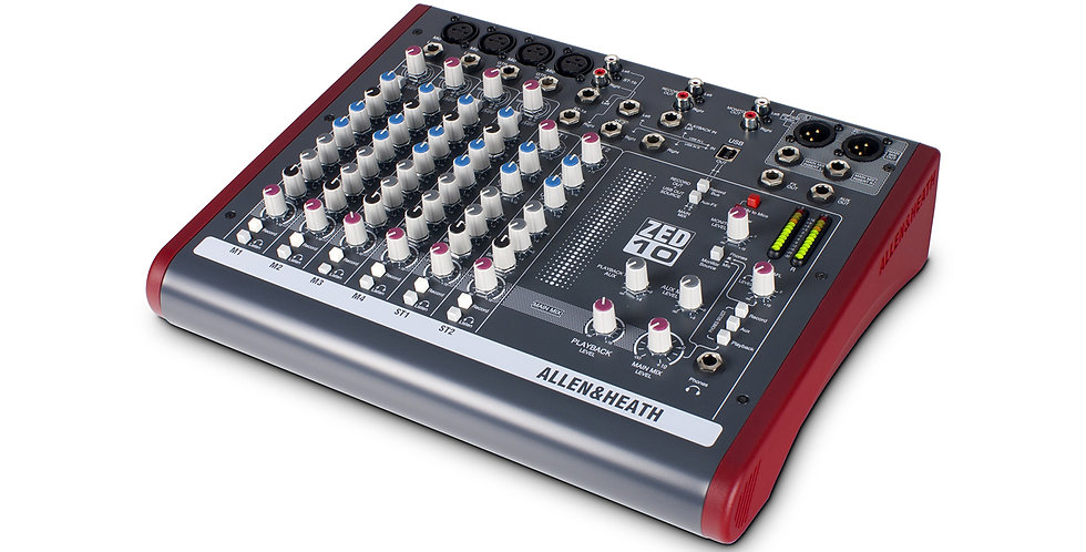 ALLEN & HEATH ZED-10 Multipurpose Mixer for Live Sound and Recording