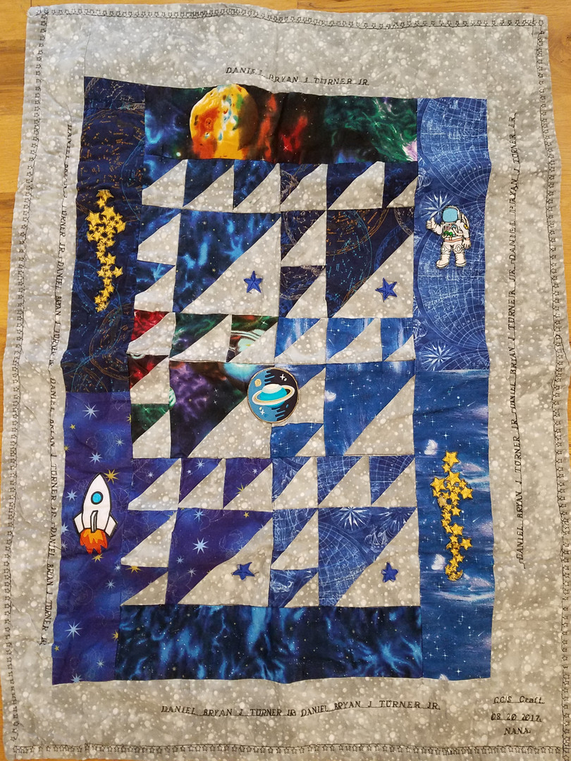 Space Exploration Baby Quilt